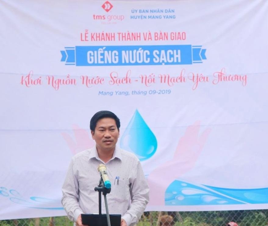 Le Trong Mang Yang현 인민위원회  부비서는 오랫동안 주민들이 깨끗한 물 사용을 간절히 바랐다며 Đăk Trang 마을과 Đăk Hlăh Tơ Drăh 마을의 기쁨을 보며 감동받았고 이 선물을 준 TMS그룹 경영진에게 감스를 표했다.