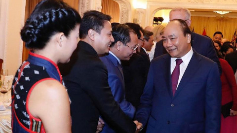 Vietnamese business representatives attend the State banquet of Vietnamese Prime Minister for the Australian Prime Minister